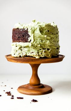 Chocolate Cake with Mint Chip Buttercream Frosting. This is your favorite ice cream flavor in cake form that won't melt!