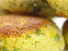 Savory couscous cakes - just made them for dinner as a side dish.  Yummy!