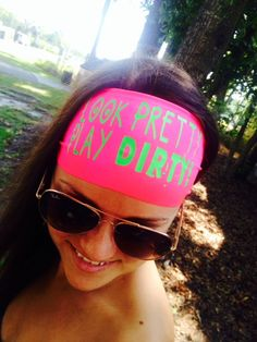 Look Pretty~Play Dirty comes in tons of bright colors! $8.00 www.hippierunner.com