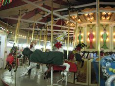 Festive Carousel Horse,Crossroads Village Antique Parker Carousel decked out for Christmas.   Flickr