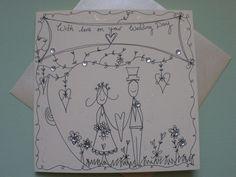 Hand drawn Wedding Card £3.50