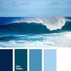 Calm, cool shades of ocean waves will look organically in bathroom. This palette is also good for the decoration of interior with high humidity..