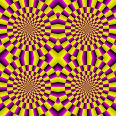 optical illusion art | Motion illusion in a stationary image