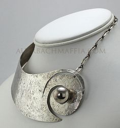 Art Smith Modernist Jewelry Silver Necklace (item #760270, detailed views)