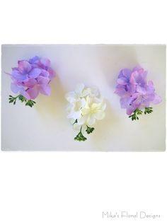 Silk Hydrangea Buttonholes
