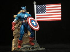 Marvel Legends Series 1 Captain America  //  Pinned by: Marvelicious Toys - The Marvel Universe Toy & Collectibles Podcast  [ m a r v e l i c i o u s t o y s . c o m ]