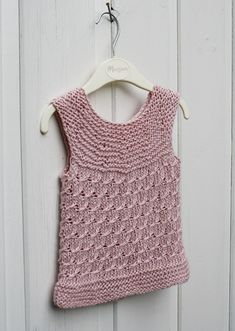 A light summer top which can also be used as a vest. This pattern fits a 9 - 12 months old baby. Did we mention it is all knit stitches? Free