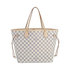 Louis Vuitton Neverfull GM White Shoulder Bags
