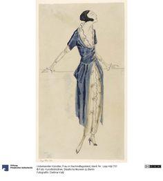 Frau in Nachmittagskleid , 1921