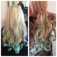 You can add a little mermaid green to your tips in the summer. | 35 Low-Key Ways To Add Color To Your Hair