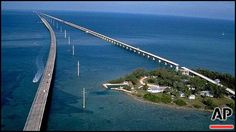 tampa waterspout   New and old (l-r) Seven Mile Bridges, connecting Marathon with Lower ...
