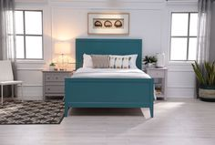Bayside Blue California King Panel Bed - $495 Living Spaces