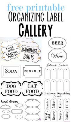 etiquetas imprimíveis grátis para organizar