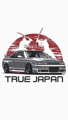 This is a cool photo of the Japanese flag behind an since this car was made in Japan. Voiture Honda Civic, Jdm Wallpaper, Drifting Cars, Car Illustration, Japan Cars, Car Drawings, Automotive Art, Modified Cars, Nissan Skyline