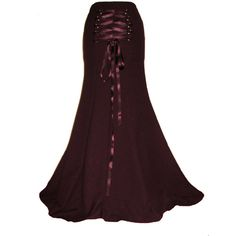 BURGUNDY STEAMPUNK skirt, fishtail skirt, long gothic skirt, maroon... (69 CAD) ❤ liked on Polyvore featuring skirts, plus size skirts, long brown skirt, plus size long maxi skirts, long gothic skirts and victorian skirt