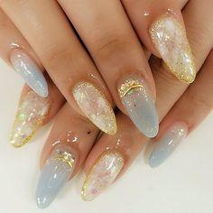 Selecting The Correct Web Design Agency - Nail Art Nail Design Stiletto, Nail Design Glitter, Korean Nail Art, Korean Nails, Hair And Nails, My Nails, Bling Nails, Witchy Nails, Asian Nails