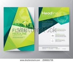 Abstract Triangle Brochure Flyer design vector template in A4 size - stock vector
