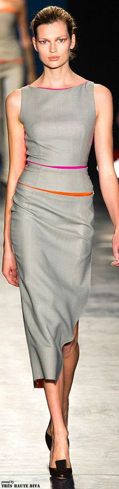 okay, would not wear it myself, but love the idea of the colour in they grey!  Altuzarra F/W 2014 RTW