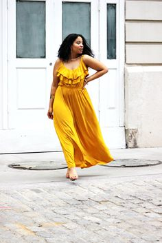 Yellow Maxi Dress for Summer