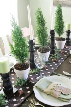Come see how I put together a simple Christmas tablescape and learn how to make beautiful candlesticks that won't cost a fortune! Christmas Makes, Christmas 2014, Gold Christmas, Rustic Christmas, Simple Christmas, All Things Christmas, Christmas Crafts, Natural Christmas, Christmas Table Settings