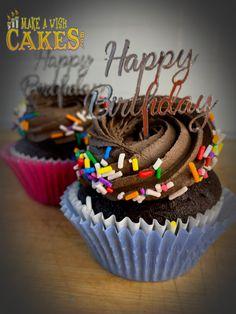 Birthday Cupcakes, Make A Wish, Custom Cakes, Yummy Cakes, How To Make Cake, Cake Decorating, Special Occasion, Birthdays, Treats