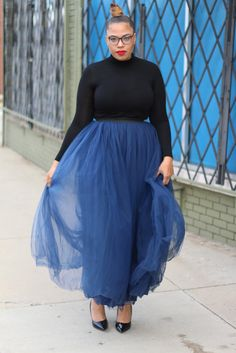 Maxi Tutus are a MUST   tellylovesfashion Plus Size Fashion , Plus Size Blogger, Curves , Women's Fashion, Fashion, Fashion Blogger, Maxi Tulle Skirt Latest Fashion, Womens Fashion, Fashion Fashion, Plus Size Fashion, High Waisted Skirt, Curves, Ballet Skirt, Skirts, Style
