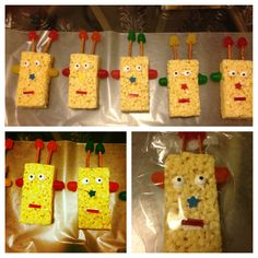 """Robot Party Treats:  Could make a """"Decorate Your Own"""" Station/Game"""