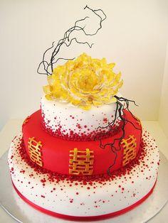 Chinese Style Wedding Cake Wedding Themes Pinterest Chinese - Birthday cake chinese style