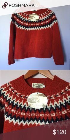 """Wool Harley of Scotland sweater from JCrew I purchased this last winter at JCrew and it's been stored in a pet & smoke free home! It's one of the side brands they carry in their """"in good taste"""" line. The sweater is wool and made in Scotland. J. Crew Sweaters Crew & Scoop Necks"""