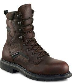 Carolina 8 USA Made Internal Met Guard Work Boots Mens Dark Brown Website Australia