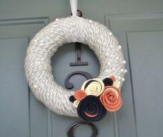 yarn wreaths