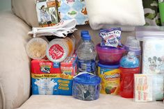 Toddler 72 hour kit...good idea for hurricane evacuation kit (will need to switch out clothing for the season).