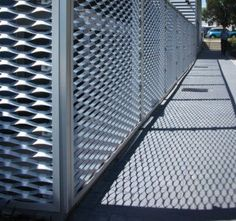Expanded metal and wire mesh balustrade, staircase cladding, footbridge barrier…