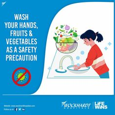 As a safety measure it is advised to wash not only your hands but all fresh produce like fruits and vegetable to prevent spreading of this highly contagious disease. Safety Precautions, Fruits And Vegetables, Health Tips, Hands, Fresh, Fruits And Veggies