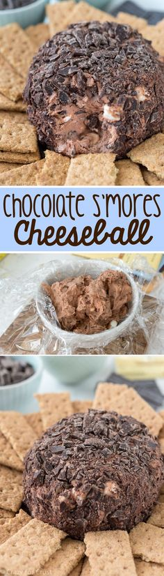 Chocolate S'mores Cheeseball