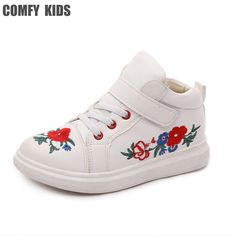 4b9b63042827    Click to Buy    children embroidery shoes designs kids casual shoe lace  elastic band slip-on boys girls sneakers unisex  Affilia…