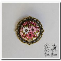 Floral Brooch Spring Broosh Floral Jewelry Feminine Brooch Polymer Clay Applique Floral Embroidery Filigree Flower Brooches