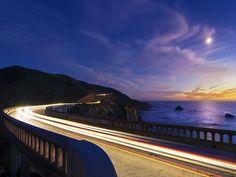 Photography - Motorway - Sunset