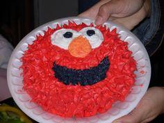 Elmo cake Elmo Cake, Party Ideas, Desserts, Food, Tailgate Desserts, Deserts, Essen, Postres, Ideas Party