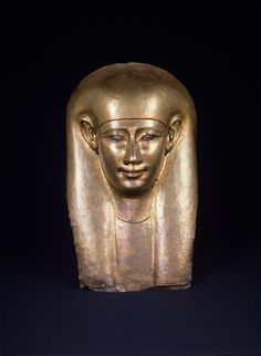 Funerary Mask - Egypt, ca. 664 - 525 BC.  Vermeil.