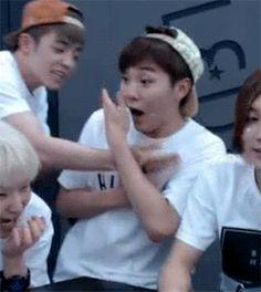 Hoshi & Seungkwan's Andromeda 150626 : Reactions to S.Coups' kiss ft. Seungkwan (2/4)
