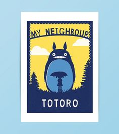 My Neighbour Totoro Print / Available in My Neighbor Totoro, Busy Bee, Tis The Season, Marketing And Advertising, Poster Prints, Handmade Items, Design Inspiration, A3, Commercial