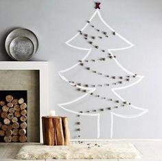 alternative-christmas-tree-ideas-wall.jpg (587×586)