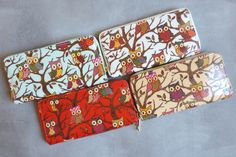 Oilcloth Whoo Loves You Owl Wristlets And Messenger Tote Bags!    fun bags in 2 shapes and sizes    60% OFF