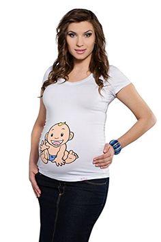 My Tummy T shirt premaman Bambino II bianco L (large) My Tummy http://www.amazon.it/dp/B00NO3AGYK/ref=cm_sw_r_pi_dp_ggh-ub1TVAGKX