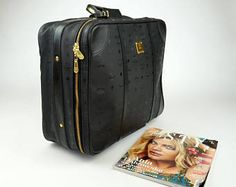 MCM vintage black mcm monogram Suitcase Luggage Travel Bag Trunk -    Edit Listing  - Etsy