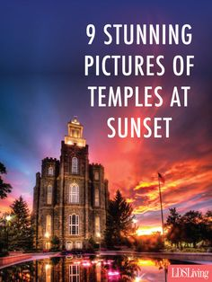 9 Stunning Pictures of Temples at Sunset Mormon Temples, Lds Temples, Scripture Study, Amazing Sunsets, Lds Quotes, Believe In God, Latter Day Saints, Faith In Humanity, Jesus Christ