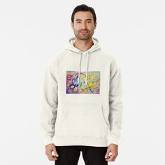 Colorful Doodle Girl Painting by Elisavet Hoodie Outfit, Hindu Girl, Sexy Outfits, Danmachi Bell, Hoodie Oversized, Elite 3, Design T Shirt, Pullover Hoodie, Pullover Sweaters