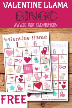 Use these free bingo games to play with a small group in class or at home. The Valentine llama bingo game is probably one of the easiest games to play during a class party or at home. day party for toddlers Free Valentine Llama Bingo - Behind the Mom Bun Valentine Bingo, Valentines Games, Valentines Day Activities, Valentines Gifts For Boyfriend, Valentine Day Crafts, Valentine Stuff, Bingo Games For Kids, Fun Activities For Kids, Toddler Games