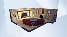 ¡Mira esta habitación en la galería de Los Sims 4! - #sarah030288 #red #modern #cute #celebrity #noCC #livingroom